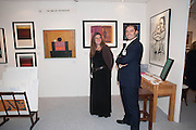 REBECCA EAMES ;VINCENT EAMES; ;  OF THE FINE ART PARTNERSHIP WINNER OF THE BEST DRESSED STAND FROM GALLERIES MAGAZINE20/21 British Art Fair. Celebrating its 25 Anniversary. The Royal College of Art . Kensington Gore. London. 12 September 2012.
