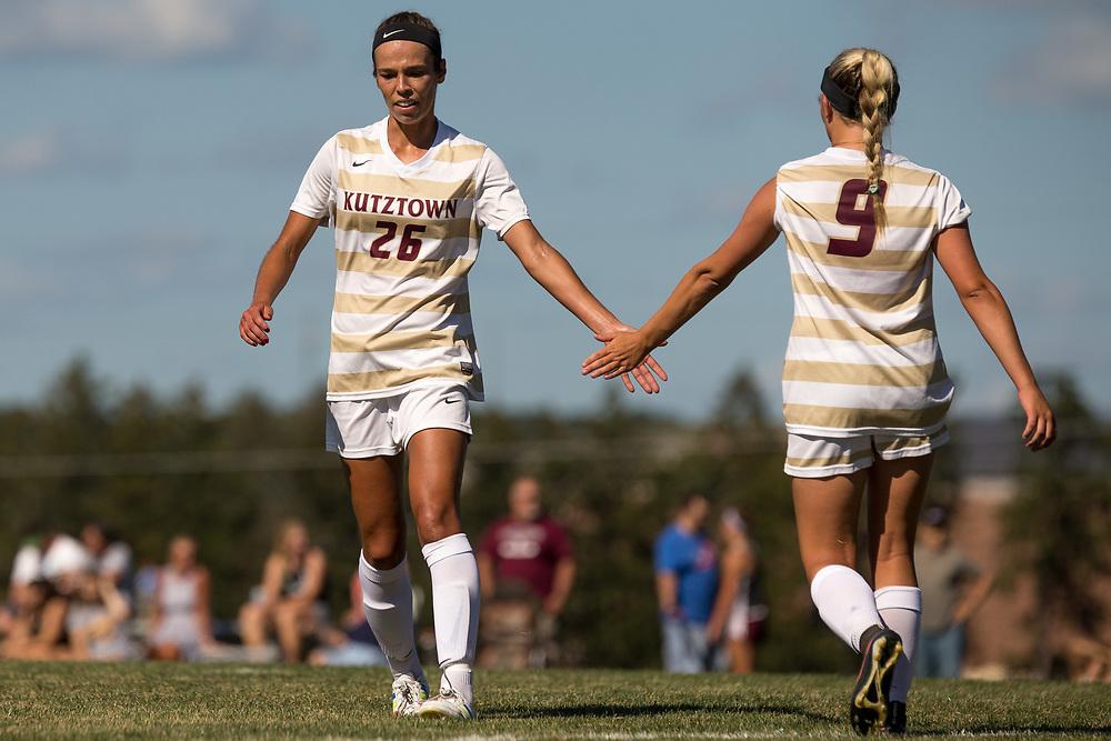 Kutztown University women's soccer team takes on Lock Haven University on Wednesday, September 7, 2016, in Kutztown, PA. Kutztown won, 2-1.