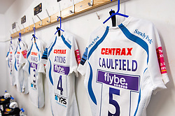 A general view of the matchday jersey of Josh Caulfield of Exeter Chiefs - Mandatory byline: Patrick Khachfe/JMP - 07966 386802 - 04/05/2019 - RUGBY UNION - Allianz Park - London, England - Saracens v Exeter Chiefs - Gallagher Premiership Rugby