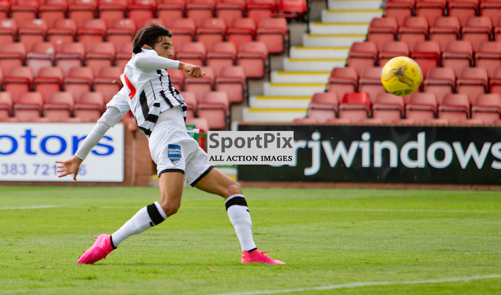 Dunfermline Athletic v Stranraer SPFL League One Season 2015/16 East End Park 29 August 2015<br /> Faissal El Bahktaoui makes it 1-0<br /> CRAIG BROWN | sportPix.org.uk