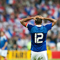 05 September 2009: French forward and captain Thierry Henry looks dejected at the end of the World Cup 2010 qualifying football match France vs. Romania (1-1), on September 5, 2009 at the Stade de France stadium in Saint-Denis, near Paris, France.