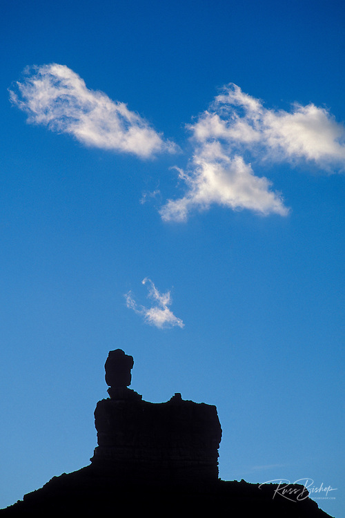 Silhouette of Lady in a Bathtub Butte, Valley of the Gods, Utah