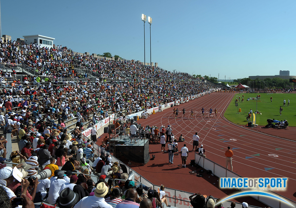 Mar 31, 2012; Austin, TX, USA; General view of the 85th Clyde Littlefield Texas Relays at Mike A. Myers Stadium.