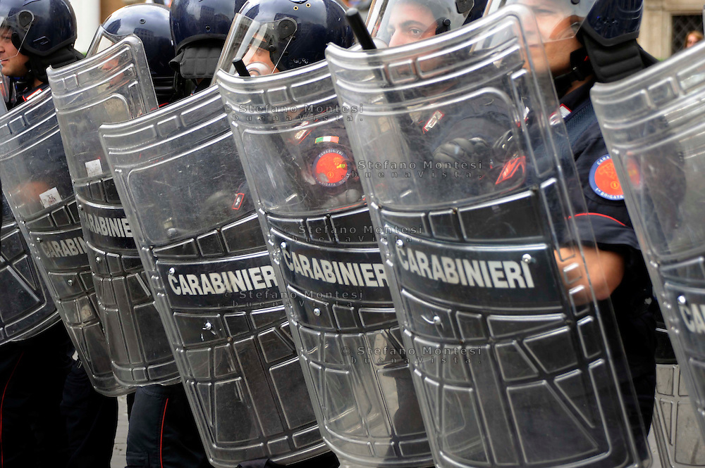 Roma 15 Maggio 2009.Carabinieri in tenuta Antisomossa.Carabinieri in riot