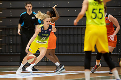 Larisa Ocvirk of ZKK Cinkarna Celje in action during basketball match between ZKK Cinkarna Celje (SLO) and MBK Ruzomberok (SVK) in Round #6 of Women EuroCup 2018/19, on December 13, 2018 in Gimnazija Celje Center, Celje, Slovenia. Photo by Urban Urbanc / Sportida