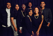 Attendees take photos at the photo booth at the All Black Affair at Baker University Center Ballroom at Ohio University on Friday, January 29, 2016. © Ohio University / Photo by Sonja Y. Foster