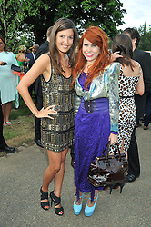 Left to right, AMANDA SHEPPARD and Paloma Faith at the annual Serpentine Gallery Summer Party sponsored by Canvas TV  the new global arts TV network, held at the Serpentine Gallery, Kensington Gardens, London on 9th July 2009.