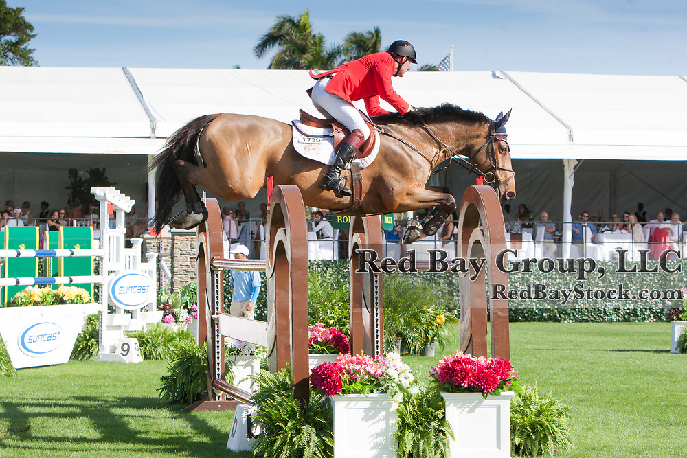 Ian Millar (CAN) rides Star Power at the 2015 Trump Invitational, presented by Rolex, where Land Rover was the official vehicle sponsor, on January 4th, 2015 in Palm Beach, FL.