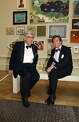 Left to right, the EARL OF GOWRIE and LORD BRAGG at The Royal Academy dinner before the official opening of the Summer Exhibition held at the Royal Academy of Art, Burlington House, Piccadilly, London W1 on 6th June 2006.<br />