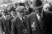 Veterans at the commemoration Mass for Michael Collins. <br /> <br /> 20/06/1970