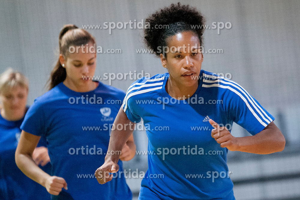 Amelie Goudjo during practice session of RK Krim Mercator on August 6, 2014 in SRC Stozice, Ljubljana, Slovenia. Photo by Urban Urbanc / Sportida