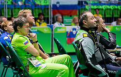 Polona Sladic and Francek Gorazd Tirsek - Nani of Slovenia during Final of R5 - Mixed 10m Air Rifle Prone SH2 on day 6 during the Rio 2016 Summer Paralympics Games on September 13, 2016 in Olympic Shooting Centre, Rio de Janeiro, Brazil. Photo by Vid Ponikvar / Sportida