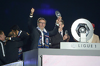 joie PSG / Laurent Blanc - 23.05.2015 - PSG / Reims - 38eme journee de Ligue 1<br />