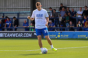 AFC Wimbledon striker Joe Pigott (39) warming up during the EFL Sky Bet League 1 match between AFC Wimbledon and Accrington Stanley at the Cherry Red Records Stadium, Kingston, England on 17 August 2019.