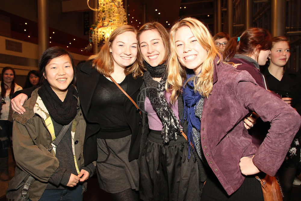 "Olympia High School students attending Seattle Opera's Experience Opera during the production of ""Barber of Seville"""