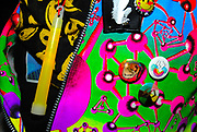 Close-up of fluorescent New Rave clothing and glowstick, Klaxons gig, Feburary 2007