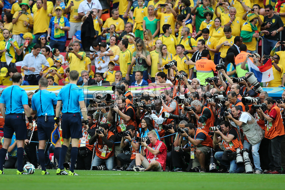 Lance da partida entre Camarões x Brasil, válida pela terceira rodada do Grupo A da Copa do Mundo 2014, no Estádio Nacional Mané Garrincha, em Brasília-DF. FOTO: Jefferson Bernardes/ Vipcomm