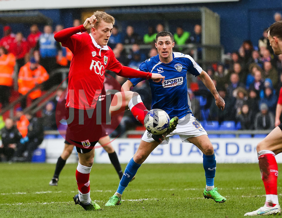 Bristol City's George Saville attacks - Photo mandatory by-line: Matt McNulty/JMP - Mobile: 07966 386802 - 03/04/2015 - SPORT - Football - Oldham - Boundary Park - Oldham Athletic v Bristol City - Sky Bet League One