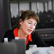 Elise Girard, réalisatrice - master class musique et film avec Bertrand Burgalat et  Stéphane Lerouge pour emergence cinema - SACEM, Paris, feb 2012.