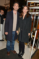 DOUGRAY SCOTT and CLAIRE FORLANI at a dinner in honour of Christy Turlington hosted by Porter magazine at Mr Chow, Knightsbridge, London on 18th November 2014.