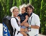 US OPEN FEATURE,  TATJANA MARIA (GER)mit Ehemann/Trainer Charles Edouard Maria und Tochter Charlotte, Familie,<br /> <br /> Tennis - US Open 2017 - Grand Slam ITF / ATP / WTA -  Billie Jean King Tennis Center - New York - New York - USA  - 1 September 2017.