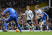 Tottenham Hotspur midfielder Christian Eriksen on the ball during the Barclays Premier League match between Tottenham Hotspur and Chelsea at White Hart Lane, London, England on 29 November 2015. Photo by Alan Franklin.