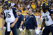 TEMPE, AZ - SEPTEMBER 03: Head coach Jerome Souers of the Northern Arizona Lumberjacks looks on during warm ups prior to the game against the Arizona State Sun Devils at Sun Devil Stadium on September 3, 2016 in Tempe, Arizona. The Sun Devils won 44-13.  (Photo by Jennifer Stewart/Getty Images)