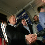 Rep. Richard Gephardt (D-MO) campaigns with Calhoun County Democrats at the Rockwell City Public Library Friday, January 16, 2004, in Rockwell City, Iowa.  Gephardt is locked in a statistical tie with Sen. Kerry, Gov. Dean, and Sen. Edwards to win the Iowa Caucus...Photo by Khue Bui