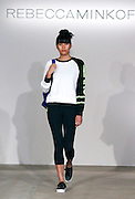 Models display Rebecca Minkoff's Athleisure Collection during the AOL BUILD Series at AOL Studios in New York on October 6, 2015 in New York City.