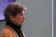"""Christiana Figueres, Convenor, Mission 2020, Switzerland speaking during the Session """"A New Narrative of Progress"""" at the Annual Meeting 2018 of the World Economic Forum in Davos, January 26, 2018.<br /> Copyright by World Economic Forum / Greg Beadle"""