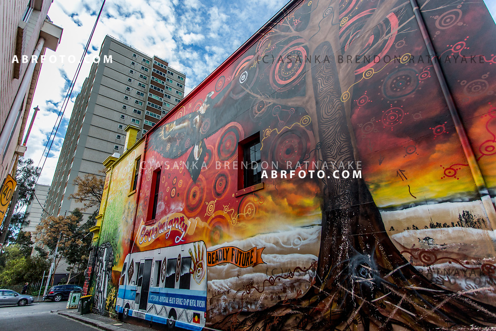 The Charcoal Lane mural by Robert Young on Gertrude street in Melbourne, Australia, September 1, 2017. Asanka Brendon Ratnayake for the New York Times
