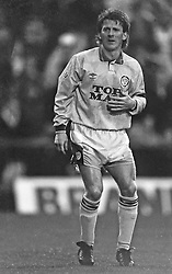 Gordan Strachan Leed United, Coventry v Leeds United, First Division, Highfield Road,  1991