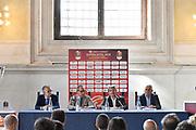 tavolo roccaforte bianchi dle bono brambilla<br /> presentazioe supercoppa 2018<br /> Legabasket Serie A 2018/19<br /> Brescia, 24/09/2018<br /> Ciamillo-Castoria