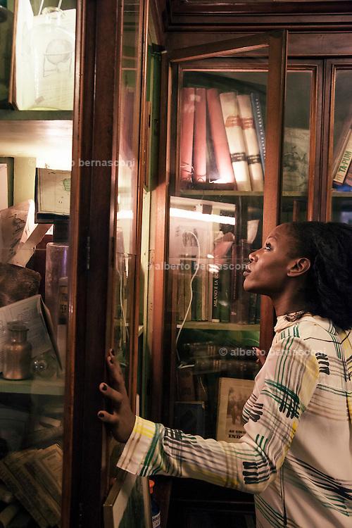Rome, the writer Taiye Selasi, Antica Libreria Cascianelli