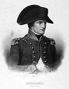 Napoleon Bonaparte (1769-1821): First Consul . Engraving.