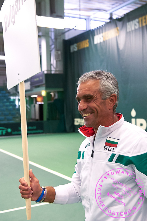 Helsinki, Finland - 2016 June 25: Bulgaria's tennis player Plamen Tsonev walks while opening ceremony during 36th ITF Seniors World Individual Championships 2016 at Talin Tenniskeskus on June 25, 2016 in Helsinki, Finland.<br /> <br /> Adam Nurkiewicz declares that he has no rights to the image of people at the photographs of his authorship.<br /> <br /> Picture also available in RAW (NEF) or TIFF format on special request.<br /> <br /> Any editorial, commercial or promotional use requires written permission from the author of image.<br /> <br /> Mandatory credit:<br /> Photo by &copy; Adam Nurkiewicz