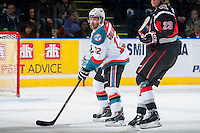 KELOWNA, CANADA - FEBRUARY 14: Tyrell Goulbourne #12 of Kelowna Rockets skates against the Moose Jaw Warriors on February 14, 2015 at Prospera Place in Kelowna, British Columbia, Canada.  (Photo by Marissa Baecker/Shoot the Breeze)  *** Local Caption *** Tyrell Goulbourne;