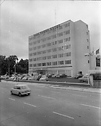 15-16/07/1970<br /> 07/15-16/1970<br /> 15-16 July 1970<br /> View of the exterior of the Tara Towers Hotel, Merrion Road, Dublin.