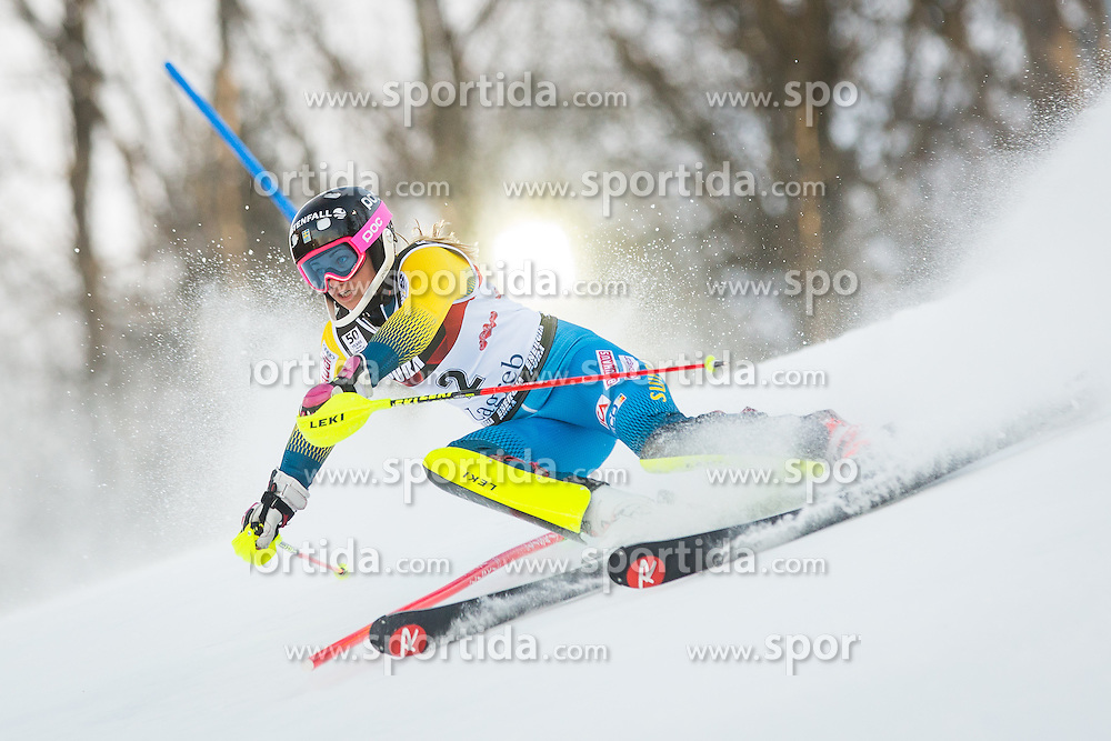 "Frida Hansdotter (SWE) during FIS Alpine Ski World Cup 2016/17 Ladies Slalom race named ""Snow Queen Trophy 2017"", on January 3, 2017 in Course Crveni Spust at Sljeme hill, Zagreb, Croatia. Photo by Žiga Zupan / Sportida"