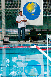 Stam Hagen, head coach of Germany, at water polo match between National men teams of Slovenia and Germany in Qualifications for European Championships in Eindhoven 2012 on June 18, 2011 in Pokriti bazen, Kranj Slovenia. (Photo By Matic Klansek Velej / Sportida.com)