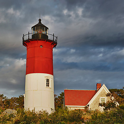 Nauset Light on the Cape Cod Naional Seashore in Eastham, Massachusets.