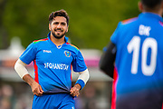Afghan cricketer Aftab Alam in the field during the One Day International match between Scotland and Afghanistan at The Grange Cricket Club, Edinburgh, Scotland on 10 May 2019.