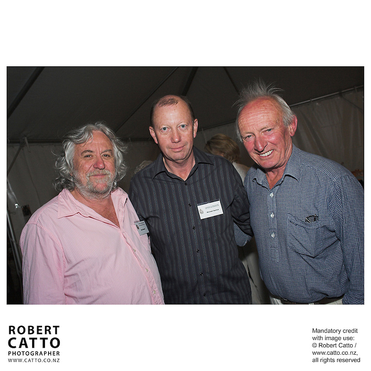 Dan Hennah;Michael Garlick;Chris Amon at the Launch of the Bruce McLaren Movie project at the A1 Grand Prix of New Zealand, Taupo, New Zealand.