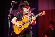 Country music legend Willie Nelson performing at the Pageant in St. Louis on April 17, 2012.