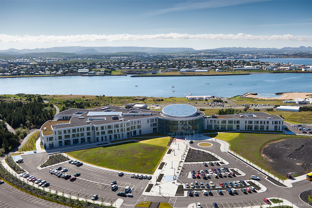 An aerial view of Reykjavík University. Reykjavik University is a international university located at the heart of Reykjavik, the capital of Iceland. Reykjavik University (RU) is Iceland's largest private university.
