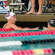 16 November 2017: The San Diego State women's swim team competes in the 2017 A3 Performance Invitational held at the SDSU Aquaplex. SDSU senior Cori Casper competes in the 500 yard freestyle event.<br /> www.sdsuaztecphotos.com