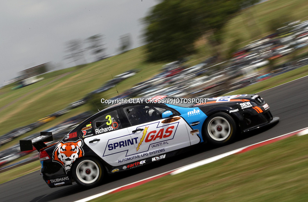 Jason Richards driving the Sprint Gas Racing Holden during the V8 Supercar race at Eastern Creek Raceway, Western Sydney on Saturday 8th March 2008. Photo: Clay Cross/PHOTOSPORT