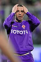 """Giampaolo Pazzini (Fiorentina)<br /> Firenze 1/5/2008 Stadio """"Artemio Franchi"""" <br /> Uefa Cup 2007/2008 Semifinals - Semifinale second Leg<br /> Fiorentina Rangers Glasgow (0-0) (2-4 a.p.)<br /> Foto Andrea Staccioli Insidefoto"""