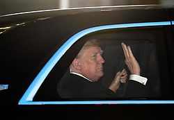 May 27, 2019, Tokyo, Japan: The president of the United States DONALD TRUMP leaves the Imperial Palace Hotel in Tokyo Japan to attend a state banquet host by Emperor Naruhito. US President Donald Trump is the first president to meet Emperor Naruhito since he took power a the beginning of May.  (Credit Image: © Ramiro Agustin Vargas Tabares/ZUMA Wire)