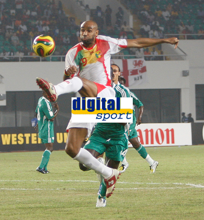 Photo: Steve Bond/Richard Lane Photography.<br /> Nigeria v Mali. Africa Cup of Nations. 25/01/2008. Frederic Kanoute in mid air